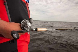 Joe Henry with a leadcore rod and reel setup