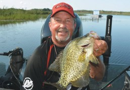 Guide Tom Neustrom with a monster crappie