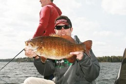 Andrew Ragas with a dandy smallmouth bass from northern Wisconsin.