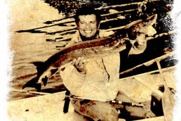 Dan Gapen with the first sturgeon he ever caught.