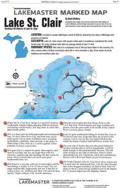 lake st clair fishing map Lake St Clair Marked Map Midwest Outdoors lake st clair fishing map