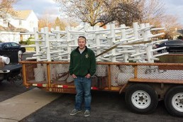 Eagle Scout constructs fish habitats.