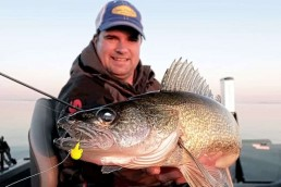 Author Jason Mitchell with a big walleye