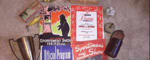 Old sport show programs sold for 15 cents in 1942 and for 35 cents in 1949. They hold a lot of fishing history. Photo: Chris Tomczak