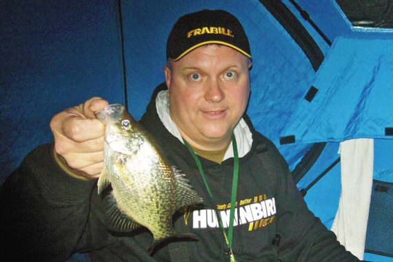 Stay Out on Ice after Dark for Great Crappie Action