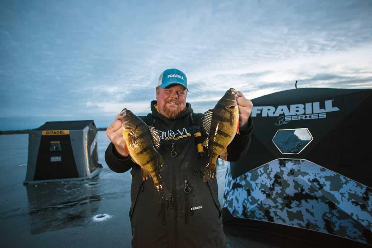 Targeting February Jumbo Perch on Leech Lake - MidWest Outdoors