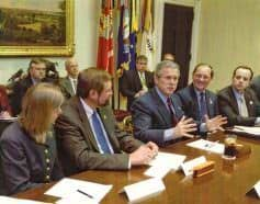As part of the Sporting Conservation Council, Keck sat at the right hand of President Bush during key meetings.