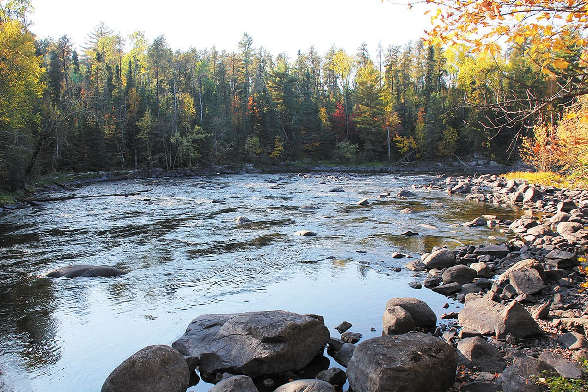 The Vermillion Falls Trail features spectacular scenery. Photo: Roger Cormier