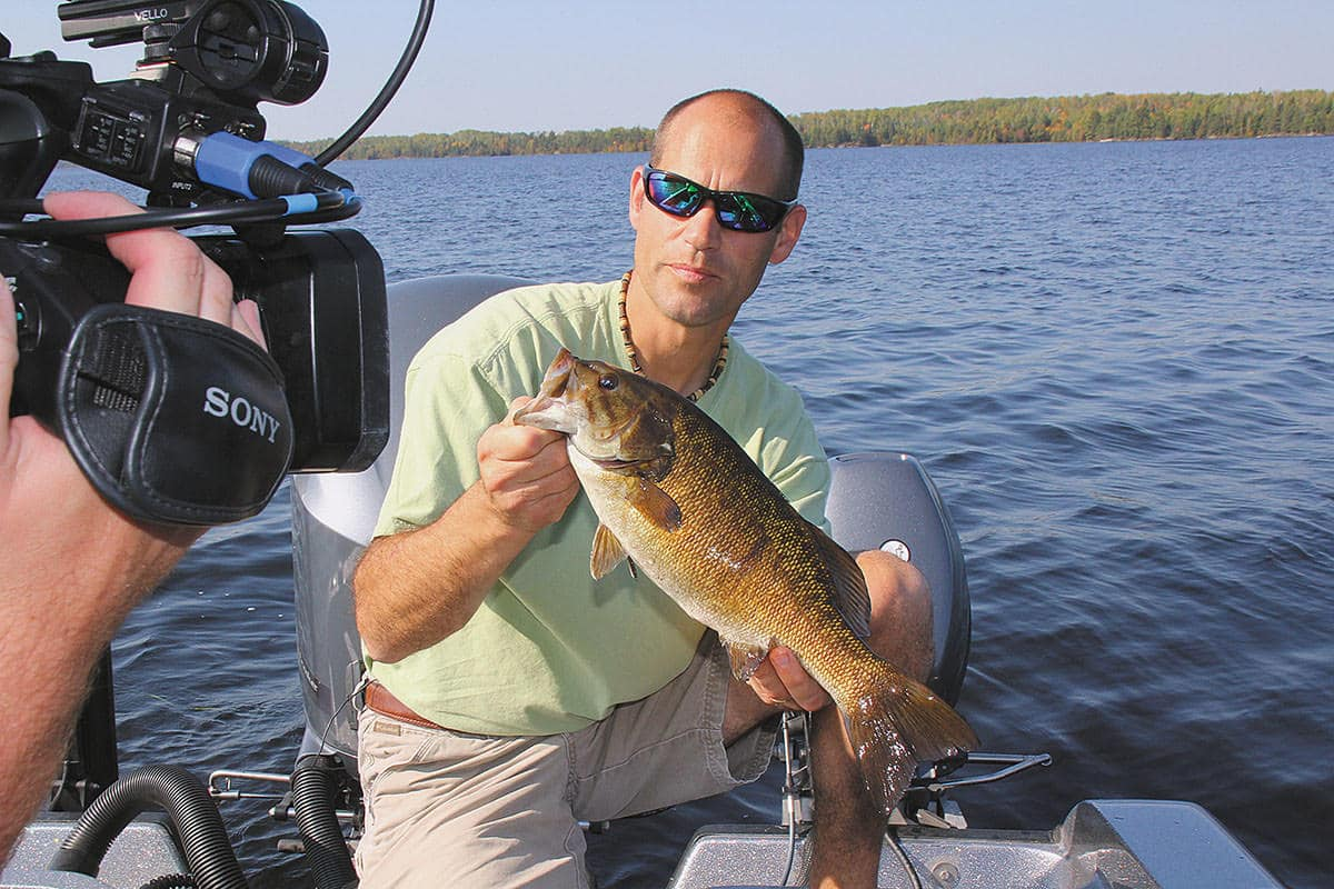 Jim Janssen from Voyagaire Houseboats caught this nice bass during a MidWest Outdoors TV shoot last fall. Photo: Roger Cormier