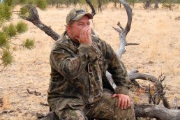 Ray Eye calling turkeys with a mouth call