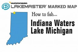Fishing Lake Michigan Indiana | Lake Michigan Indiana Fishing Map