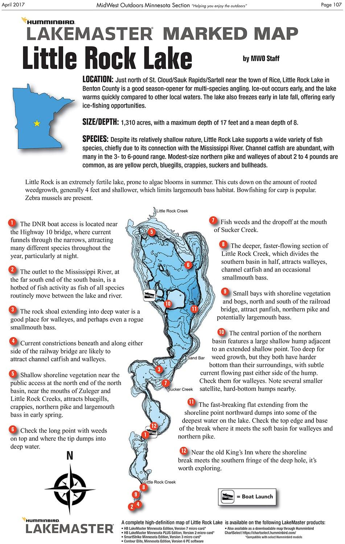 Little Rock Lake Fishing Map Fishing Little Rock Lake MidWest