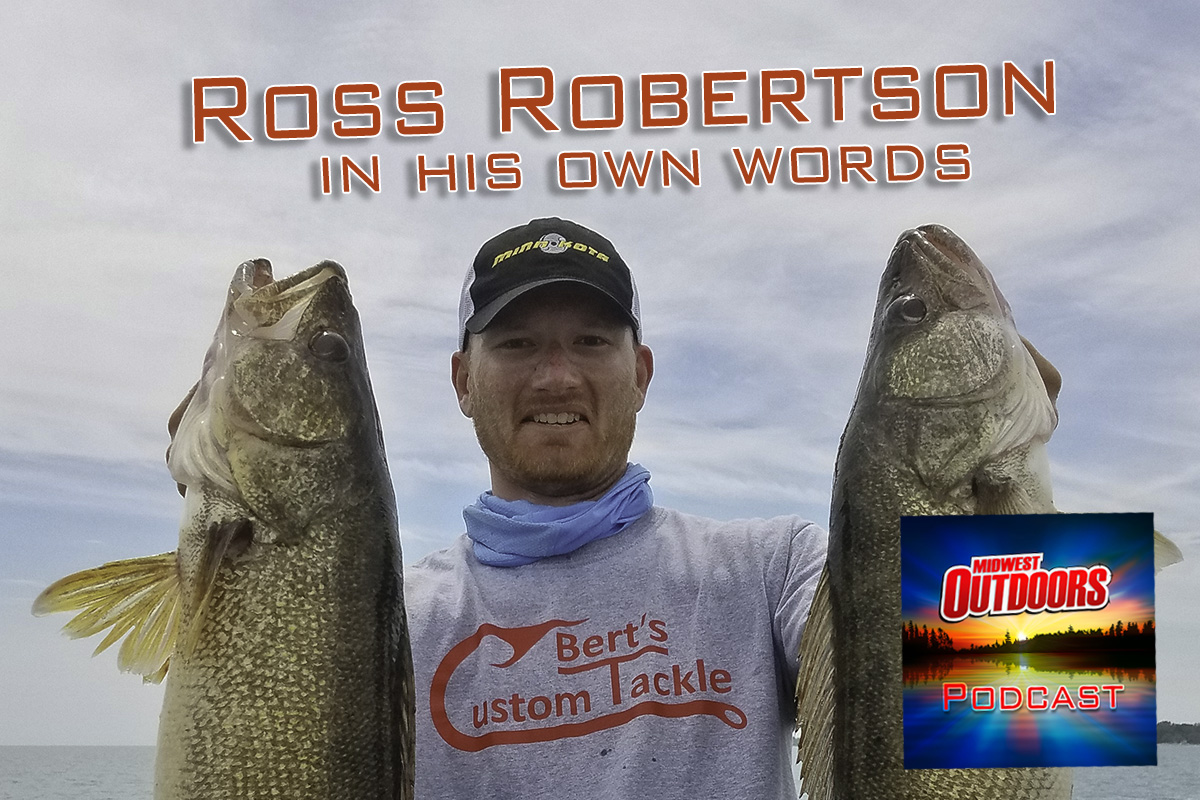 Walleye trolling expert Ross Robertson on MidWest Outdoors Podcast