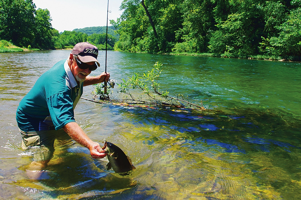 Best baits for stream smallmouths midwest outdoors for Best bait for lake fishing