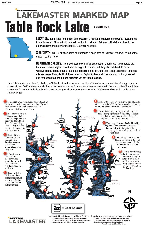 Table Rock Lake Map