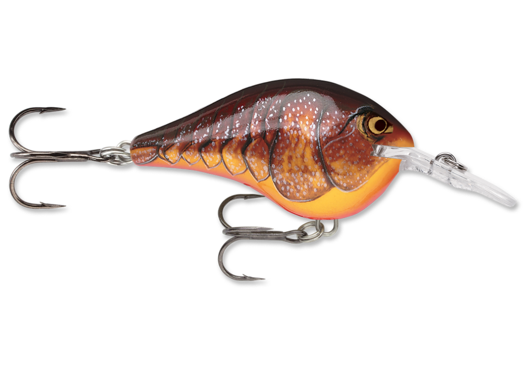 Orange Craw-colored Rapala DT6 crankbaits