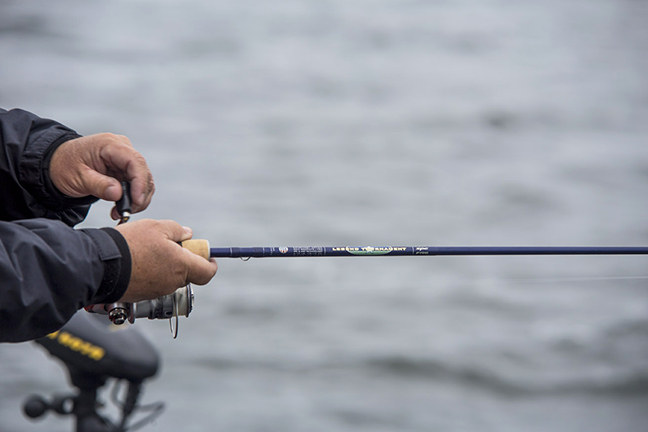 An 8-foot, 6-inch live bait rigging rod from St. Croix Rods helps ...