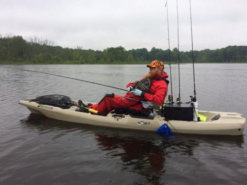 Dave Fishing off his Kayak