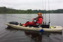 Dave Fishing off his Kayak