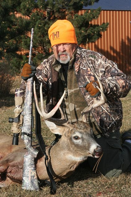 L.P. Brezny with first whitetail harvested by the 6.5 Creedmoor Winchester AccuBond 142-grain bullet. He took the buck at 451 yards with a Winchester XPR turn bolt rifle.