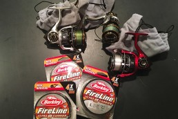 Fishing reels with spools of FireLine fishing line. Keep extra reels and line handy to make your trip of a lifetime memorable for all the right reasons.