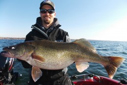 Do-it Staff Kyle Steinfeldt with 13 pounds of monster Green Bay walleye that fell for a Ripper earlier this spring.