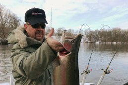 A nice St. Joe steelhead caught on a winter morning.
