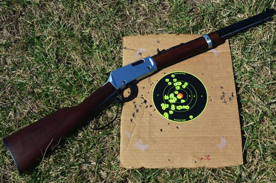 This is a 6-inch Shoot-N-C target used for the first time shooting with the Evil Roy at the 45- and 50-yard lines.