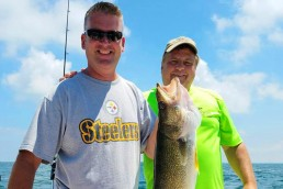 August is a great month to catch all species on Lake Erie
