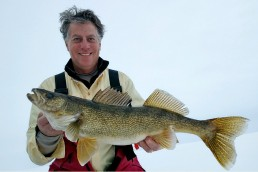 Pat Smith with a big walleye