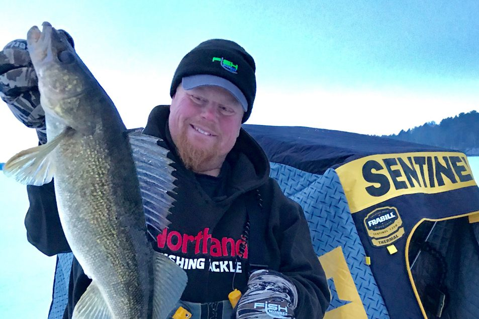 Early ice walleye fishing tips | How to catch early ice walleyes | Ice fishing for walleyes | How to catch walleyes through the ice | Best walleye ice fishing tips